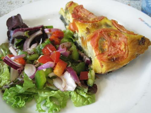 Summer vegetable tart