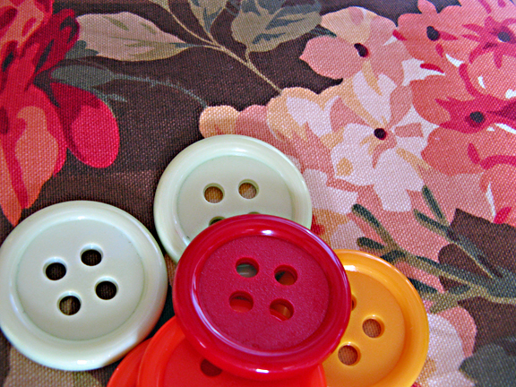 buttons and fabric
