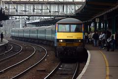 90002 arrives with a Norwich-London train (justindperkins) Tags: uk train suffolk rail ipswich eastanglia class90