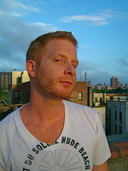 code red (redjoe) Tags: new york city nyc light sunset sky cloud sun man rooftop me self beard evening ginger manhattan joe redhead redhair redjoe joehorvath