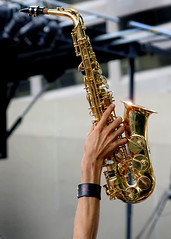 A Saxaphone at Toronto's Record Attempt