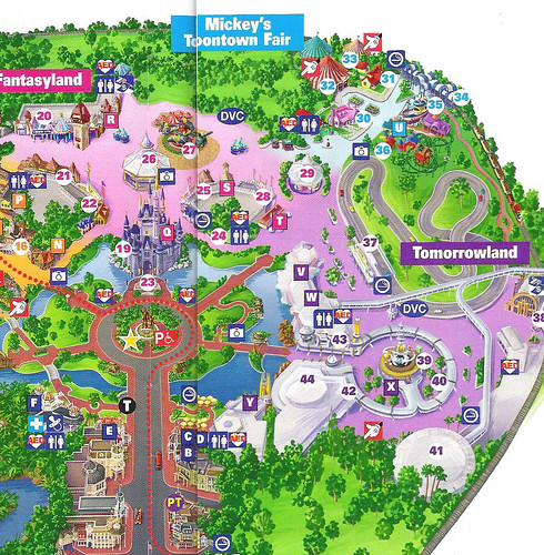 Magic Kingdom 2010 Guide Map | WDWMAGIC   Unofficial Walt Disney World  Discussion Forums