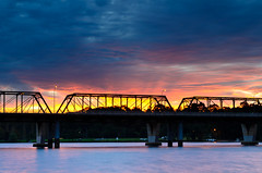 Sunset's Glow (Rodney Campbell) Tags: bridge sunset sky water clouds river places nowra shoalhaven bomaderry gnd09