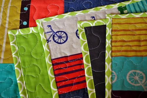 Izzy's quilt - binding folded