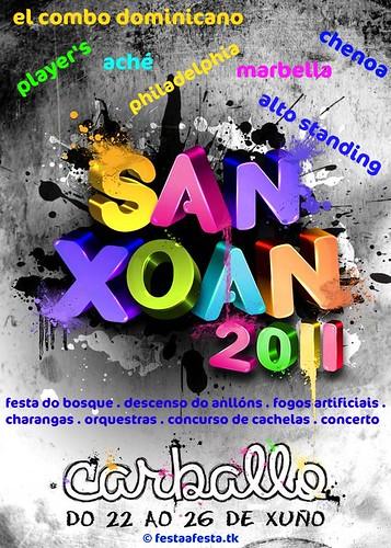 Carballo 2011 - San Xoán - cartel - programa