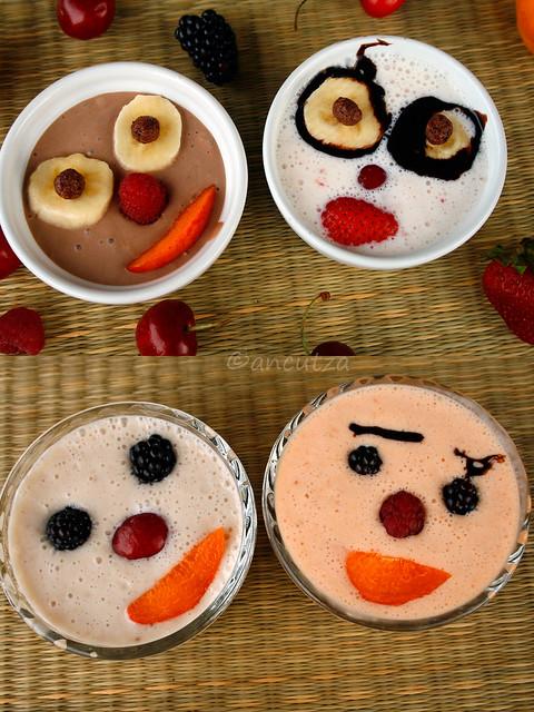 decorazioni divertenti faccine con la frutta