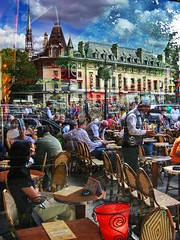 Blvd St. Michel Café (Daniel Schwabe) Tags: paris france reflection cafe boulevardstmichel supershot aplusphoto lpcafecult