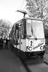 tram of solidarity (mdj | Bartosz Madejski) Tags: tram poland wideangle publictransport mdj solidarność tramwaj wrocław konstal komunikacjamiejska slodarity wwwbartphotocouk