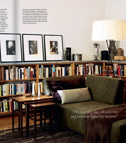grönbrunt bibliotek