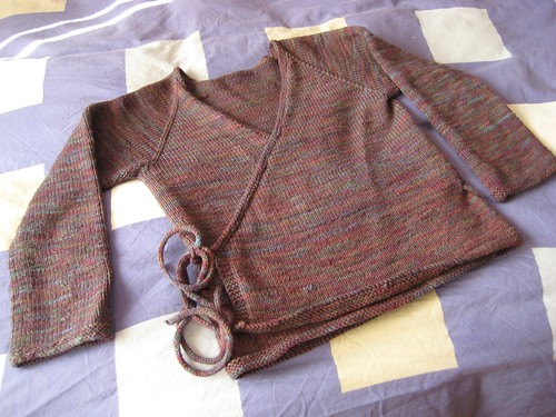 dream in color wrap sweater