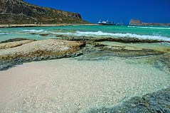 Balos beach Crete (Paterdimakis) Tags: blue sea white seascape beach beauty landscape coast boat sand nikon mediterranean d70 shoreline aegean kreta greece shore crete scape  balos    supershot kissamos  ballos  ysplix dazzlingshots   goldolivebranch    top20beaches