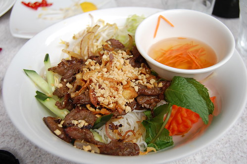 Grilled Lemongrass Beef on Rice Vermicelli