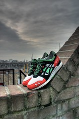 Patta x Asics [1st round HDR] (Tsewang K.) Tags: city roof wall rotterdam balcony sneakers asics kicks gel hdr lyte patta
