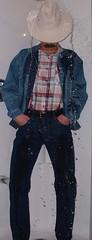 cowboy06 (splishsplash1123) Tags: cowboy jean denim jeanjacket wam westernwear wetdenim