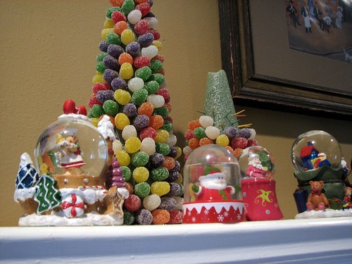 gumdrop trees on mantle