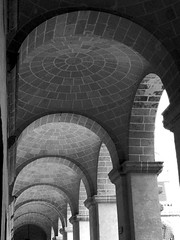 saucer domes, Grand Master's Palace, Valletta (archidave) Tags: roof stone architecture arch order arcade perspective malta palace stjohn ceiling master knights dome repetition classical saucer repeat array valletta grandmaster cassar grang