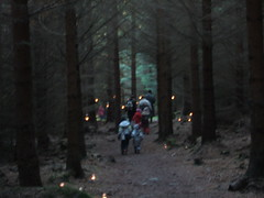 Candlelit path through the bin (chuffin) Tags: santa christmas wood family coffee forest fire aberdeenshire huntly candlelit forestrycommission
