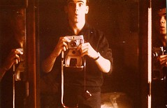 The original mirror image? (Peter Denton) Tags: selfportrait male guy youth self 35mm vintage mirror scanned 1960s analogue mirrorimage ilford 1964 oldcameras jüngling 20yearsold ©peterdenton