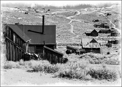 Bodie Ghost Town (C.Fredrickson Photography) Tags: california old white black town acid ghost rustic september wash bodie 2007 lightroom