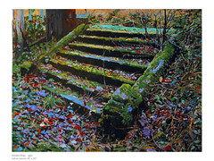 "27. ""Garden Steps, Rattray"" (Oil painting by M.Beek) (Martin Beek) Tags: autumn art fall leaves neglect painting landscape death artwork artist decay steps oil catalogue inventory artworks avantgarden oldwork rattray originalwork eyewashdesign mybackpages gardensteps britishlandscape martinbeek bleaklandscape sixofthebest artandphotography britishlandscapes darklandscapes yourmasterpaintings shadowandsubstance britishlandscapepainting paintinganddrawing paintingsbymartinbeek martinbeek paintingsdrawingsandartworks art19802008 gardensandart artandsculptureinpublicspaces garedensanddetails originalartworkbymmeek alifeinart photographyandpainting landscapeandemotion paintings20072008 bymartinbeek photographicinfluence thecamraandtheartist thecameraandtheartist theinfluenceofphotography artworks20072009 martinbeekart paintingsbymartinbeek200710 landscapepaintingsanddrawings martinbeeksworks art19802010 landscapepaintinganddrawing"