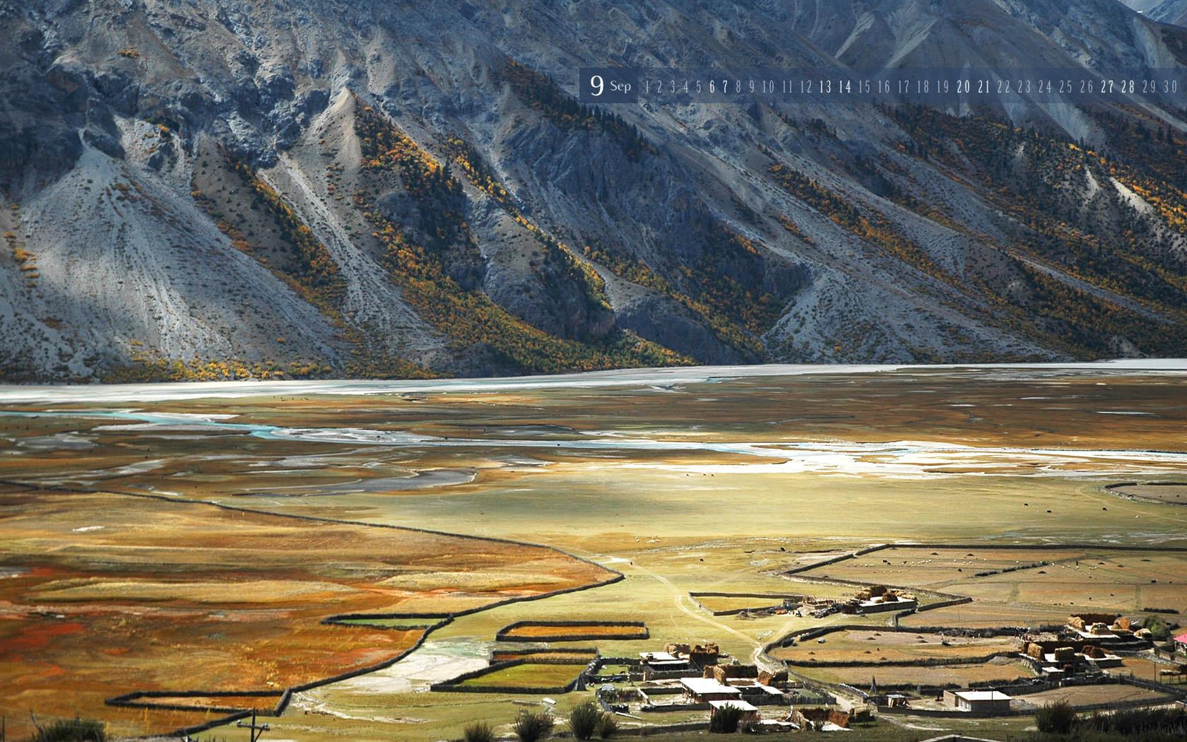 How To Help >> Sep | 西藏 然乌河边的小村 Riverside village, Rawu, Tibet 1680x1050 | Flickr