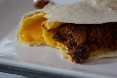 breakfast soyrizo sammichilla