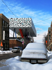OCAD (livinginacity) Tags: toronto canada architecture architect building buildings structures avantgarde modern contemporary joyous joy playful color colourful pattern patterned unique ocad ontariocollegeofartanddesign thesharpcentrefordesign alsop willalsop wonderful steel flying walking stilt stilts winter architectureincanada design cool awesome wow recent new wicked superb a