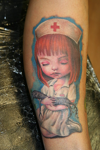 Mark Ryden doll tattoo Mirek vel Stotker