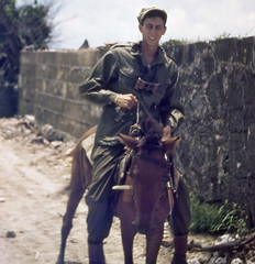 1945 Okinawa 10a (mgsmith) Tags: color geotagged army war wwii pony okinawa 1945 jerrysmith 718thamphibioustractorbattalion amphibioustractor 718thamtracbattalion 718thamtrac