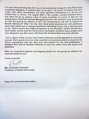 Dhaka University Professor's Letter to the Anti-Coruption Commission - Page 2 of 2