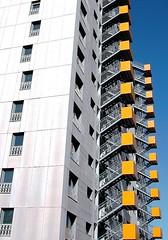 Escaleras amarillas (javier1949) Tags: madrid stairs arquitectura escalera amarillo escaleras villaverde viviendas peldaos casariegocarvajal