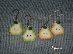 peritas / pear earrings 48 (agustina) Tags: art handmade craft felt pear aros earrings agustina manualidades pendientes pera peras aretes fieltro paolenci