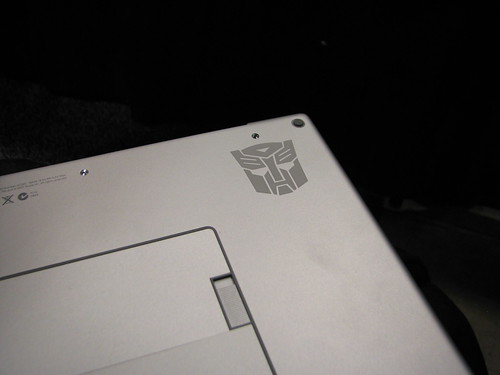 My MacBook Pro, with Autobot logo