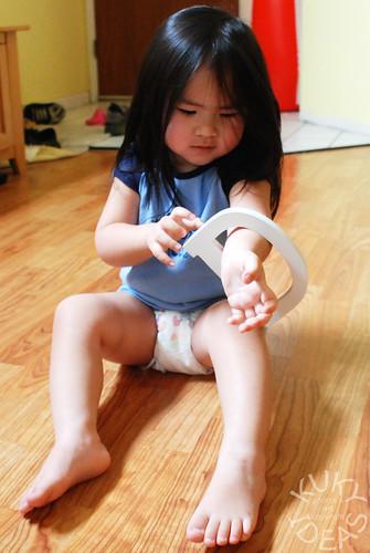 Girl chubby leg