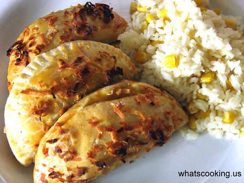 Royal Fish Empanadas and Coconut Rice