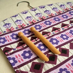 purple daisy peg bag