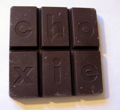 Choxie 62% Ghana cacao single origin chocolate bar