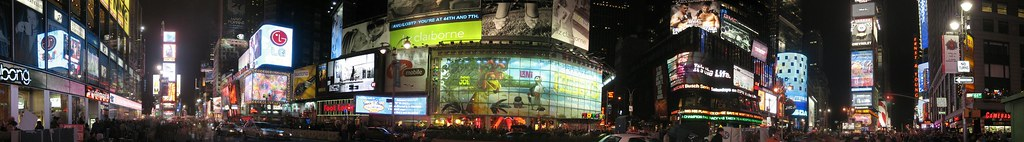 Times Square night panorama