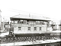 Signal box - Hurstville (NSW State Archives and Records) Tags: blackandwhite sydney railwaystation archives newsouthwales signalbox hurstville staterecordsnsw