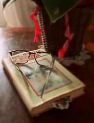Una scandalosa giovinezza (Aellevì) Tags: occhialidavista libro lettura unascandalosagiovinezza albertobevilacqua annebbiato sfuocato nastro romanzo lenti miopia astigmatismo piantaincasa vaso cestino centrino relax segnalibro aellevì pausa