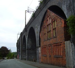 Underneath the arches (jazzebbess) Tags: church railway arches ww1 1888 spiritualist runcornrailwaybridge brindleyroad ashridgestreet maythelovelightshinedownonyou