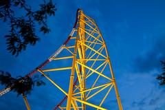Cedar Point - Top Thrill Dragster (Cory Disbrow) Tags: longexposure travel ohio vacation photoshop canon lab lakeerie nighttime cp 2009 cedarpoint topthrilldragster rollercoasters ttd sandusky cs4 thrillrides 120mph canonef24105mmf4lisusm intaminag 420ft canon5dmarkii corydisbrow