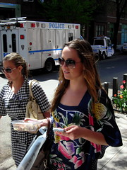blooms (omoo) Tags: newyorkcity girls beauty youth spring cops tulips westvillage police blooms freshness greenwichvillage twogirls bombsquad west10thstreet plantings policevehicle bombsquadtruck acrossfromthebombsquadheadquarters