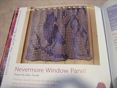 raven crochet panel