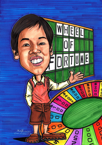 Wheel of Fortune caricature