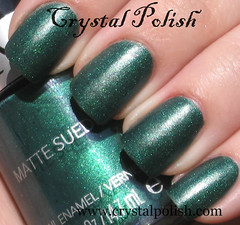 Revlon Emerald City (CrystalPolish) Tags: green drugstore emeraldcity matte shimmer revlon mattesuede