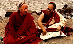 10.5 Kyabje Chhimed Rigdzin Rinpoche (on left) (indiariaz) Tags: mystery intense magic tibet lama meditation tradition yeti lhasa understanding himalayas shambhala rinpoche freetibet absorbed guru adept truthful mantra padmasambhava rimpoche shambala tulku wrathful highplateau mattedhair landofsnows mahaguru wrathfull paramguru watertowerofasia ommanpedmehum