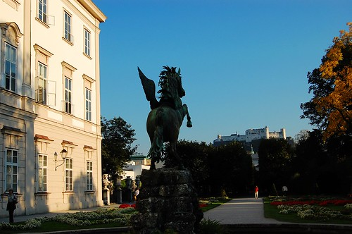 Pegasus statue in Mirabell Gardens