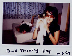 Good Morning !! (Twiggy Tu) Tags: film bed room hippie 100 nia afterparty twiggy myeverydaylife fujiinstax p1f1 aplusphoto lomopeoplelomolife photobykay saygoodmorning
