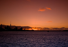 Auckland City Sunset - by Light Knight